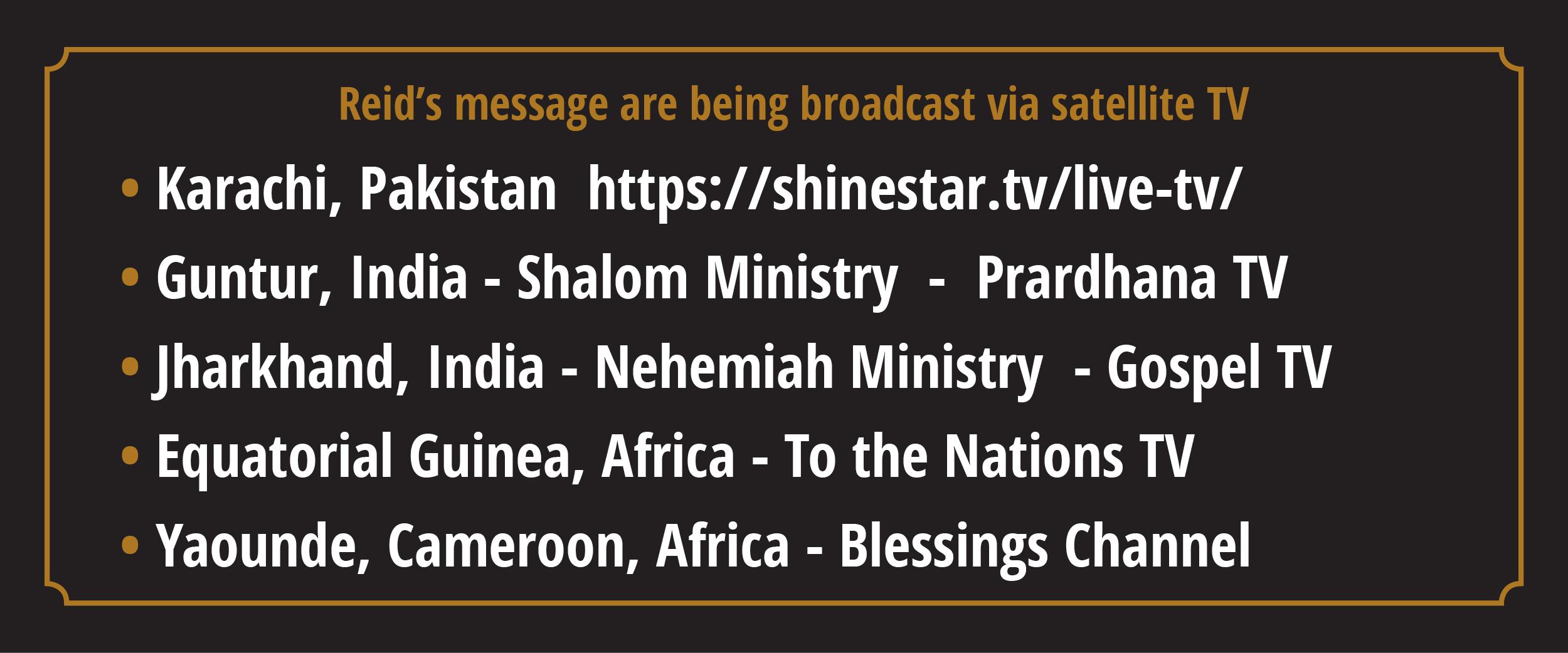 outreach broadcast schedule
